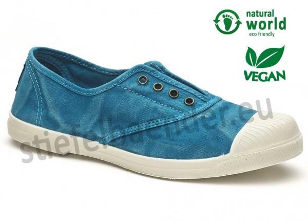Veganer Sneaker 102E in caribbean (türkis)
