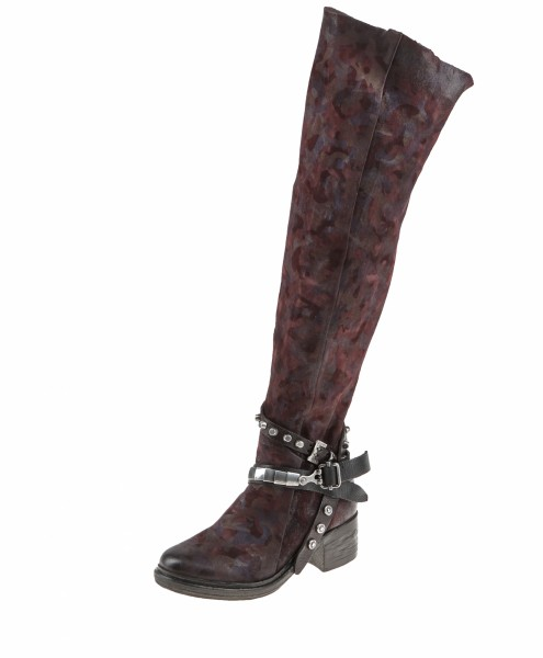 A.S.98 (Airstep) Overknee Stiefel aus Kalbsleder Farbe: falun