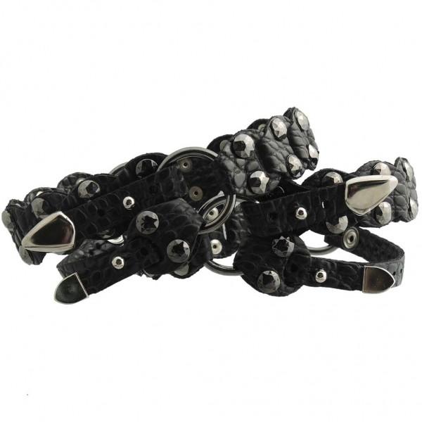 Stiefelbänder aus Italien mit Sohlenband - 46 cm
