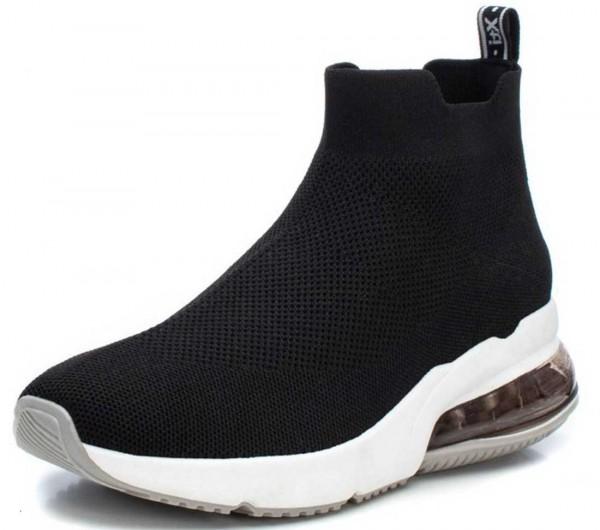 High Top Sock-Sneaker von Xti aus Spanien, schwarz
