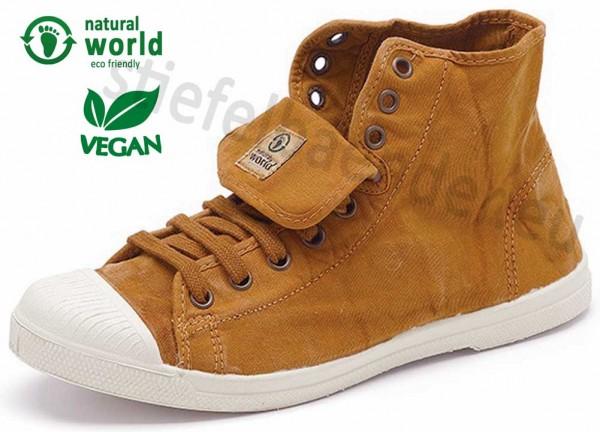 Natural World 107E - Vegane Sneaker, Farbe 646 Cuero (zimtgelb)