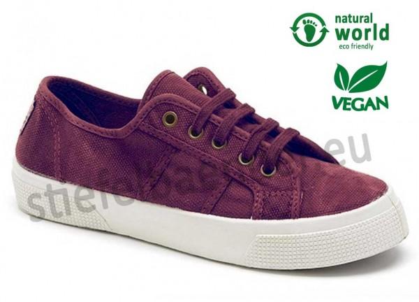 Vegane Sneaker von Natural World Farbe burdeos