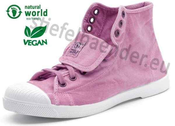 Natural World 107E - Vegane Sneaker, Farbe 603 Rosa