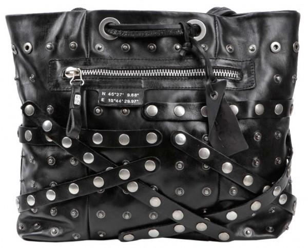 A.S.98 (Airstep) Rockstyle Bag mit vielen Nietenbändern