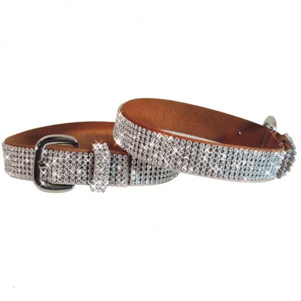 Stiefelbänder mit 6 Reihen funkelndem Kristallstrass