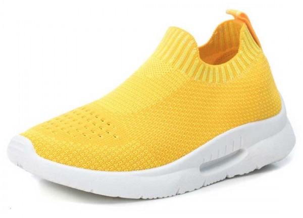 Super bequeme Sock Sneakers von Xti aus Spanien, gelb (amarillo)