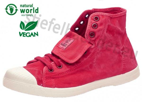 Natural World 107E - Vegane Sneaker, Farbe 652 Rojo (rot)