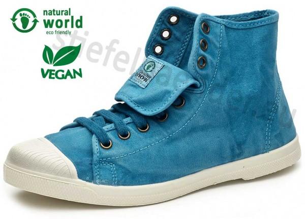 Natural World 107E - Vegane Sneaker, Farbe 643 Caribbean (türkis)
