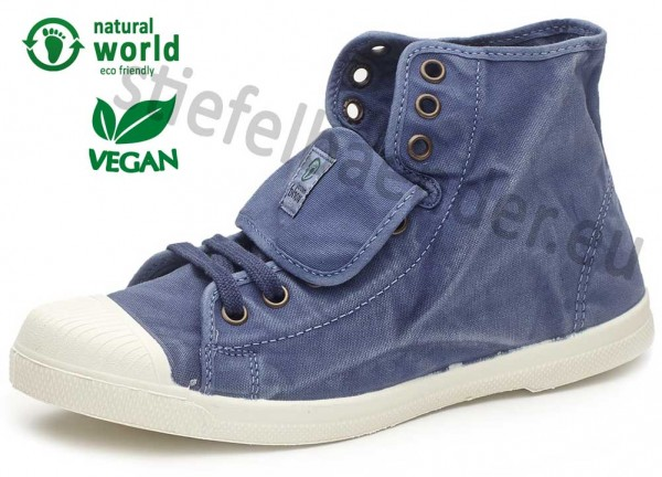 Natural World 107E - Vegane Sneaker, Farbe 628 Mar (blau)