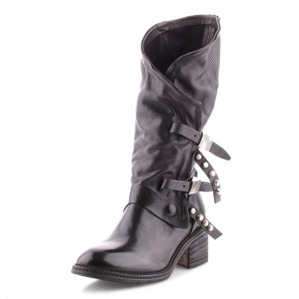 A.S.98 (Airstep) Stiefelette aus Kalbsleder Farbe: nero