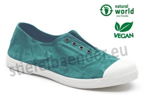 Veganer Sneaker 102E in menta (türkisgrün)