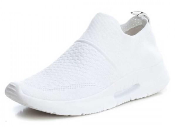 Bequemer Sneaker aus Spanien, Stretch, weiß (blanco)