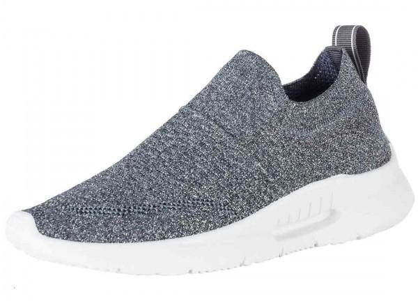 Bequemer Sneaker aus Spanien, Stretch, grau metallic (silber) Farbe plomo