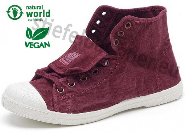Natural World 107E - Vegane Sneaker, Farbe 620 Burdeos (burgund)