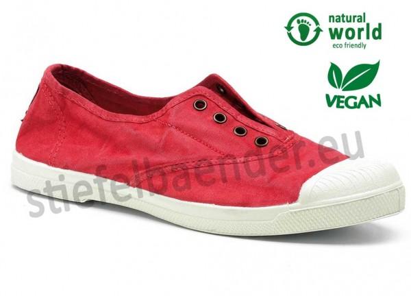 Veganer Sneaker 102E in rojo (rot)