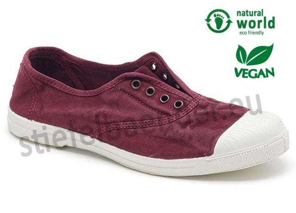 Veganer Sneaker 102E in burdeos (burgund)
