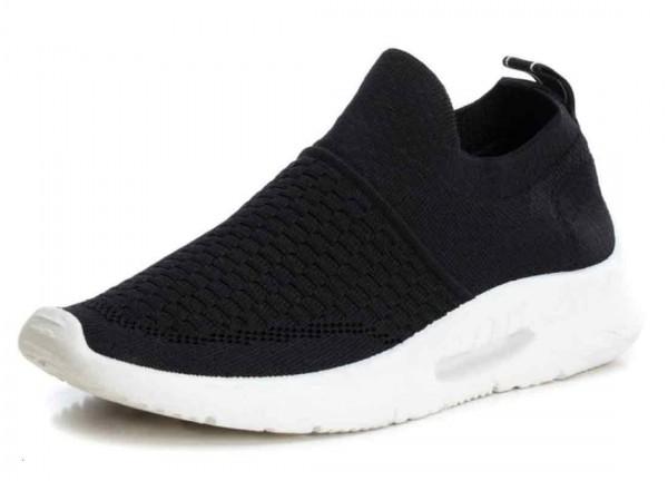 Bequemer Sneaker aus Spanien, Stretch, schwarz (negro)