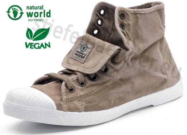 Natural World 107E - Vegane Sneaker, Farbe 621 Beige